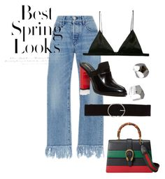 """Fake Gucci Hoe"" by naomi-s1234 on Polyvore featuring 3x1, Fleur du Mal, NOVICA, Vero Moda, H&M, Opening Ceremony and Gucci"