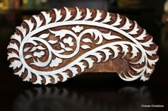 Hand Carved Indian Wood Textile Stamp Block by charancreations, $43.00