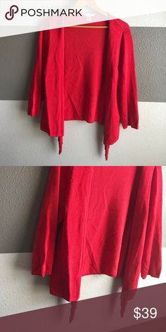 Peter Nygard Knit Sweater Vibrant red knit sweater. EUC Peter Nygard Sweaters Cardigans