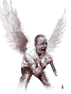 RIP Chester Bennington by Tima Akai on ArtStation. Chester Rip, Linkin Park Chester, Chester Bennington Tattoo, Rock Background, Celtic Cross Tattoos, Emo Wallpaper, Heavy Metal Art, Mike Shinoda, Inspirational Artwork