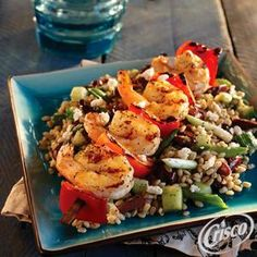 Grilled Shrimp with Greek Wheat Berry Salad from Crisco®