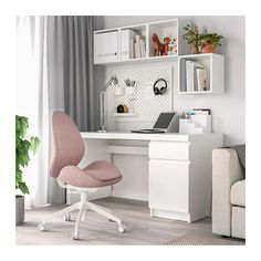 HATTEFJÄLL Office chair - Gunnared light brown-pink - IKEA This could be your new accent color for the office.beautiful with blue wallpaper.add some wall art with dark blue, grey and pink :-) Home Office Chairs, Home Office Space, Home Office Design, Home Office Decor, Home Decor, Ikea Office Chair, At Home Office Ideas, Office Desks For Home, Home Offices
