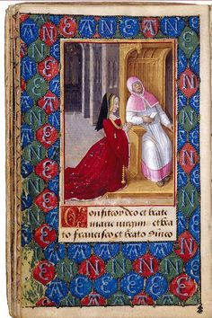 This prayer book was commissioned by Anne de Bretagne, wife of two successive kings of France, Charles VIII and Louis XII, to teach her son, the dauphin Charles-Orland (1492–1495), his catechism. It was painted in Tours by Jean Poyer, an artist documented as working for the queen. The book is richly illustrated, and its thirty-four airy, light-flooded miniatures are among the most delicate examples of late-fifteenth-century art.