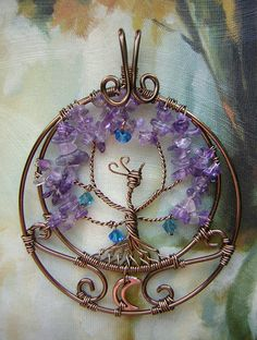 """""""Bough of the Eternals (World of Warcraft)""""  This pendant was inspired by the Night Elf capitol in World of Warcraft, known as Darnassus. Enjoy! =]"""