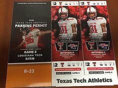 #tickets Texas Tech Red Raiders Football vs LA Tech Bulldogs Tickets please retweet