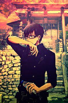 Yukio, okumura, ao no exorcist, blue exorcist, glasses, uniform, wallpaper, background