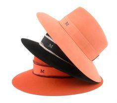 Maison Michel Lauren trilby large bord hat in fur felt