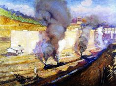 In the Lock, Miraflores Alson Skinner Clark - circa 1914