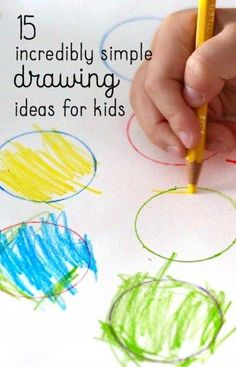 Super easy drawing ideas to work fine motor skills.