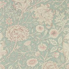 Double Bough wallpaper, in colour Teal Rose, from Morris & Co's Melsetter collection. Featuring 10 beautiful wallpapers, Melsetter shares May Morris' Teal Rose Wallpaper, Trellis Wallpaper, Print Wallpaper, Home Wallpaper, Fabric Wallpaper, Antique Wallpaper, Feature Wallpaper, Beautiful Wallpaper, William Morris Wallpaper