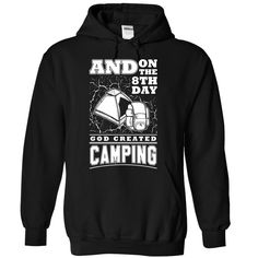 God created Camping - 1015 T Shirts, Hoodies. Check price ==► https://www.sunfrog.com/LifeStyle/God-created-Camping--1015-8567-Black-Hoodie.html?41382 $39.99