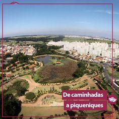 Para sair de casa, a dica vai para um lugar de descanso e prática de esportes: o Parque das Águas, em Campinas, tem bastante espaço verde e é perfeito para um piquenique de domingo ou um dia de feriado!