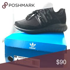 Adidas Tubular Radial New, never worn, all black sneakers. They are a size 6 in men so about an 8 in women. Adidas Shoes Sneakers