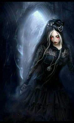 Morbidia Morthel Gothic fantasy art. Wiccan pagan