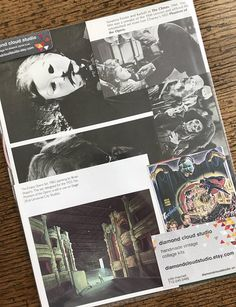 Phantom of the Opera Vintage Horror Movie Collage Scrapbook
