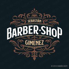 Diseño de logotipo para barbería profesional.