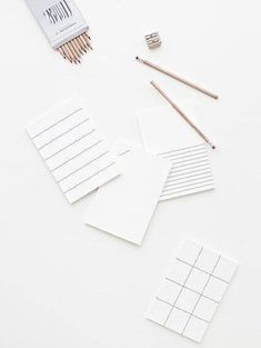 gorgeous grey and white grid pattern stationery and pure pencils Flat Lay Photography, Minimalist Photography, Book Photography, Product Photography, Stationery Design, Stationery Paper, Book Layout, White Aesthetic, Fashion Books