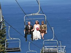 Chairlift wedding #photography