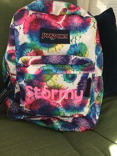 Heat transfer monogram backpack (book bag)