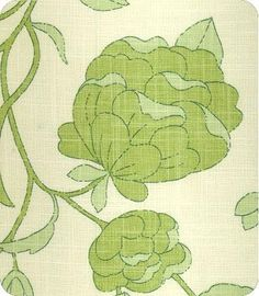 Lotus Blossom in Spring Green from Lewis & Sheron Textiles