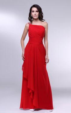 Ärmellos normale Taille plissiertes ein Schulterfreies luxus Abendkleid - Emodeshop.de