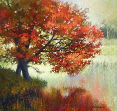 Landscape Painting Print from my original by DianaJohnsonFineArt Original Oil Painting, Landscape Paintings, Watercolor Trees, Fine Art, Big Canvas Art, Painting Inspiration, Painting, Oil Painting, Painting Prints