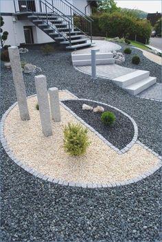 Garden design with gravel pictures - Garten Design - Paisagismo Gravel Landscaping, Gravel Garden, Landscaping With Rocks, Front Yard Landscaping, Landscaping Ideas, Pergola Ideas, Patio Ideas, Backyard Ideas, Potager Garden
