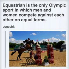 That's because the horse is doing the work. Shout out to our equine friends.