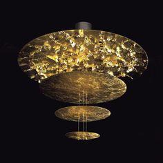 Catellani & Smith - Sistema Macchina Della Luce A Pendelleuchte - gold/Aluminium/Ringkerntransformator 100W
