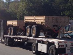 The Army's new tandem axle dump trailer.