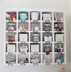 Love this cubby. shabby story: where bloggers create…