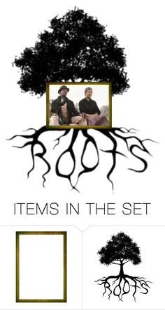 """Vintage TV Miniseries... Roots"" by maryv-1 ❤ liked on Polyvore featuring art and vintage"