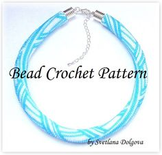 Pattern for bead crochet necklace Turquoise ice by DolgovaSvetlana, $8.00
