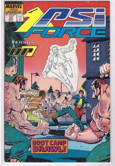 Psi Force #23 Sept 1988 Marvel Comic Book New Universe Boot Camp Brawl Vs DP7