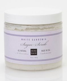 Take a look at this White Gardenia Sugar Scrub by Beau Bain on #zulily today!