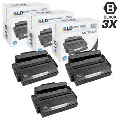 LD Compatible Samsung MLT-D203E Set of 3 Extra High Yield Black Laser Toner Cartridges for SL Printers- M3820DW, M3870FW, M4020ND, M4070FR