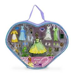 disney princess tiana figurine fashion playset new with case Tiana And Naveen, Disney Princess Tiana, Disney Princess Fashion, Princess Toys, Princess Party, Disney Animator Doll, Disney Dolls, Baby Girl Toys, Toys For Girls