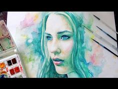 Video: Speed Painting Watercolor.  Kind of amazing to watch the process of painting and see the final product.