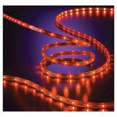 150 fluorescent orange rope light 2 wire 12 120 volt rope philips halloween led 135 ct rope lights orange aloadofball Choice Image