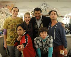 The Big Bang Theory cast with Neil deGrasse Tyson