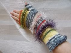 Knit Fingerless Gloves gift for her Winter Accessories warm