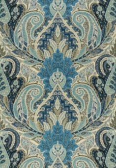 Beautiful blue paisley fabric