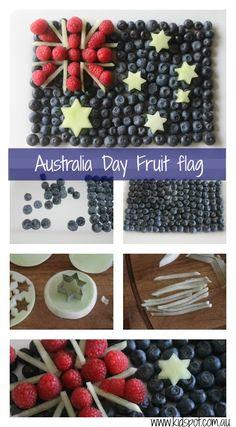 Australian fruit flag - brilliant idea. I can arrange my fruits to look like minnie mouse for Ari's birthday