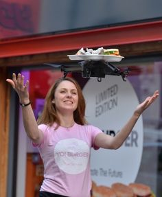 Yo Sushi is testing its flying waiter at its Soho location in London, but plans to bring t...