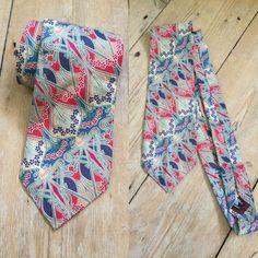 Liberty London Silk Necktie Tie Tana Lawn Men's Art Nouveau Design    eBay