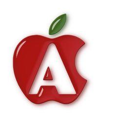 alfabeto maçã colorido - Alfabetos Lindos