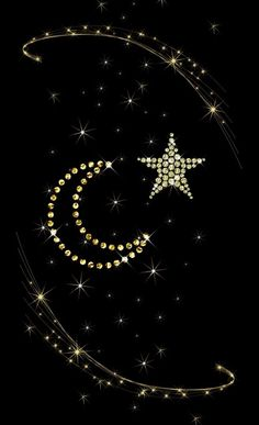 Black and gold stars moon Lip Wallpaper, Iphone Wallpaper Vsco, Pretty Phone Wallpaper, Flowery Wallpaper, Star Wallpaper, Pretty Wallpapers, Black Wallpaper, Wallpaper Backgrounds, Moon And Stars Wallpaper