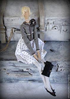 Куклы Тильды ручной работы. Ярмарка Мастеров - ручная работа кукла тильда ручной работы ШАНЕЛЬ блондинка. Handmade.