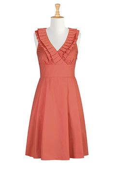 Ruffle front surplice dress.  Perfect for any fun occassion.