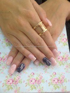 Acrylic nails with gel polish